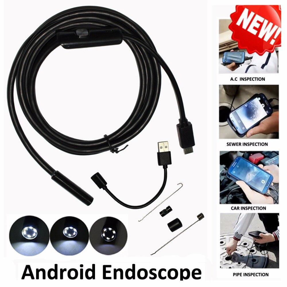 1 m/2 m/3,5 m 5,5mm Len 5 M Android OTG USB endoscopio Cámara serpiente Flexible pipe inspección Android Teléfono USB Borescope Cámara