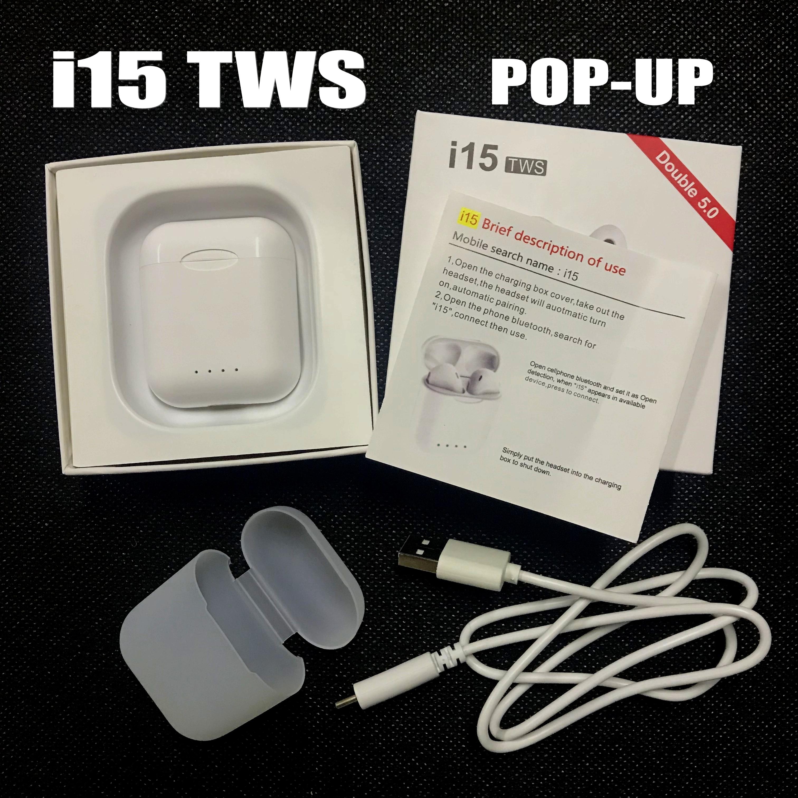 Pop up Функция i15 СПЦ поддержка Беспроводной зарядки Bluetooth 50 3D Touch control бас наушники pk i10 i11 i12 i13 i14 i20 СПЦ купить на AliExpress