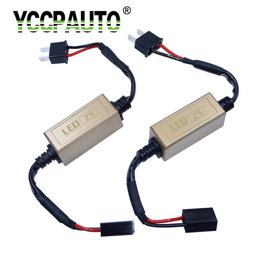 YCCPAUTO Car Fog Lights Headlights Caubus Cable Resistor H7 H8 H1 H3 9006 9005 LED Canceller Load Error No Flickering Warning