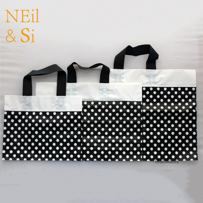 Plastic Handle Gift Bag T shirt Packaging Pouch Portable
