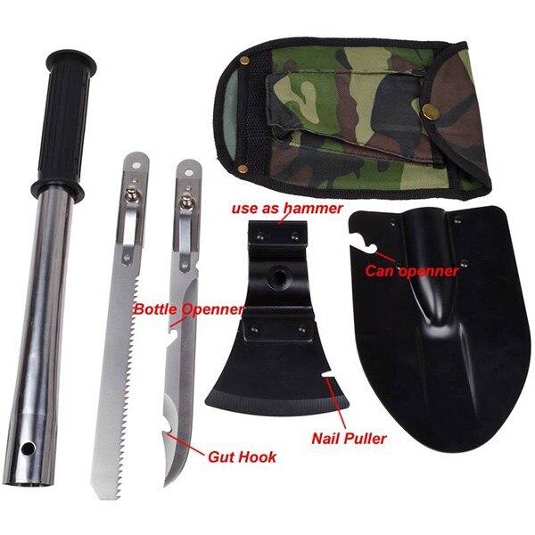 Multi-zweck Camping Schaufel Militär Outdoor Ausrüstung Hoe 4in1 Klapp Schaufel Axt Sah