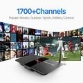 TV Box RK3128 Quad Core H.265 Android 2.4 Ghz WiFi com Frete HD 1700 Caixa de IPTV Canais de IPTV Europa Itália Francês Turco IUDTV