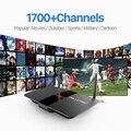 TV Box RK3128 Quad Core H.265 Android 2.4 Ghz WiFi con El Envío HD 1700 IUDTV Turco IPTV Caja IPTV Canales Europa Italia Francés