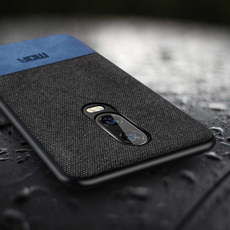 f4b8596050b ... oneplus 6t case cover oneplus 6 t fabric shockproof silicone edge 1+6t case  capas ...