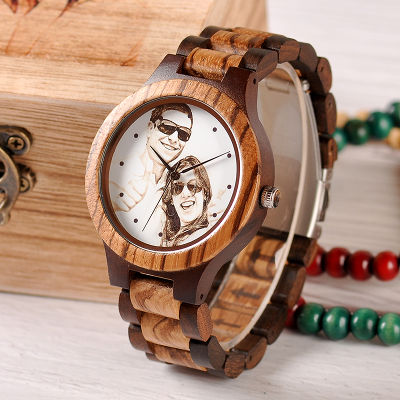 Customizable Bamboo Wrist Watch For Lovers or Family 9