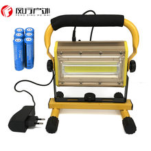 Refletor LED Outdoor Lighting Flood Light Lamp Floodlight 100W COB LEDs Spotlight Garden Lamp with 6x 18650 Battery & Charger(China)