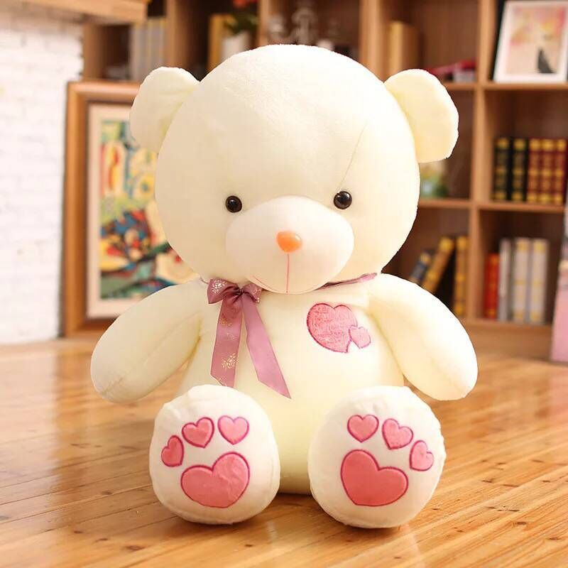 Cute 45cm Creative Light Up LED Glowing Teddy Bear Stuffed & Plush Animals  Luminous Plush Bear Stuffed Toys Doll for Children new creative plush bear toy cute lying bow teddy bear doll gift about 50cm