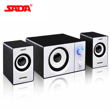 SADA Wired Mini Combination speaker Laptop computer laptop desktop phone active audio For Free Shipping