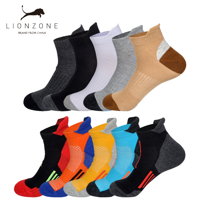 New Professional Men Socks Breathable Low-top Running Fitness Basketball Cycling Compression Elastics Outdoor Ankle Socks