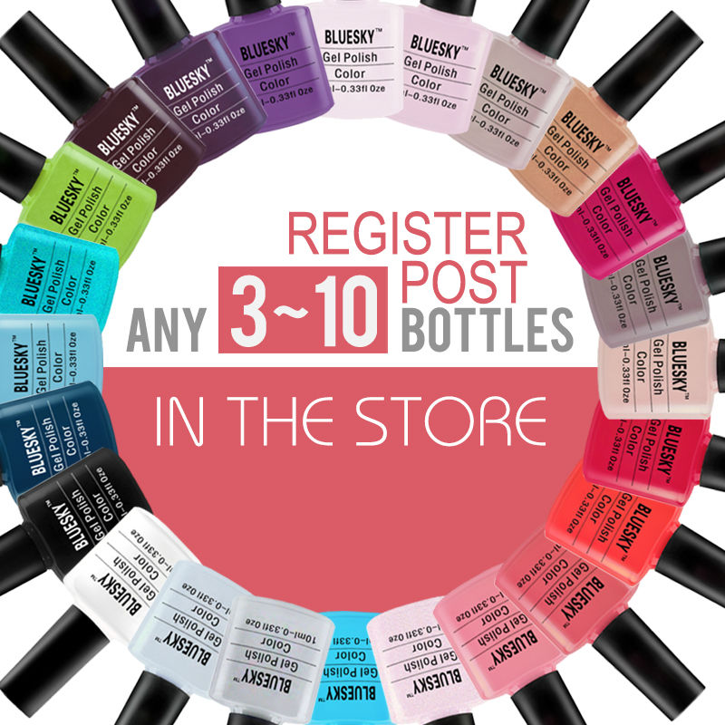 ANY 2-10bottles in store 100% Bluesky Classic serise The Most Popular With shining colors gel polish , uv gel nail polish human in the store there are surprises low price store products lp st cheap suitcase