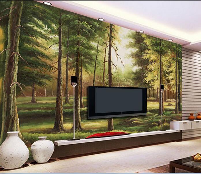 3d habitaci n de papel pintado personalizado mural no for Papel pintado personalizado