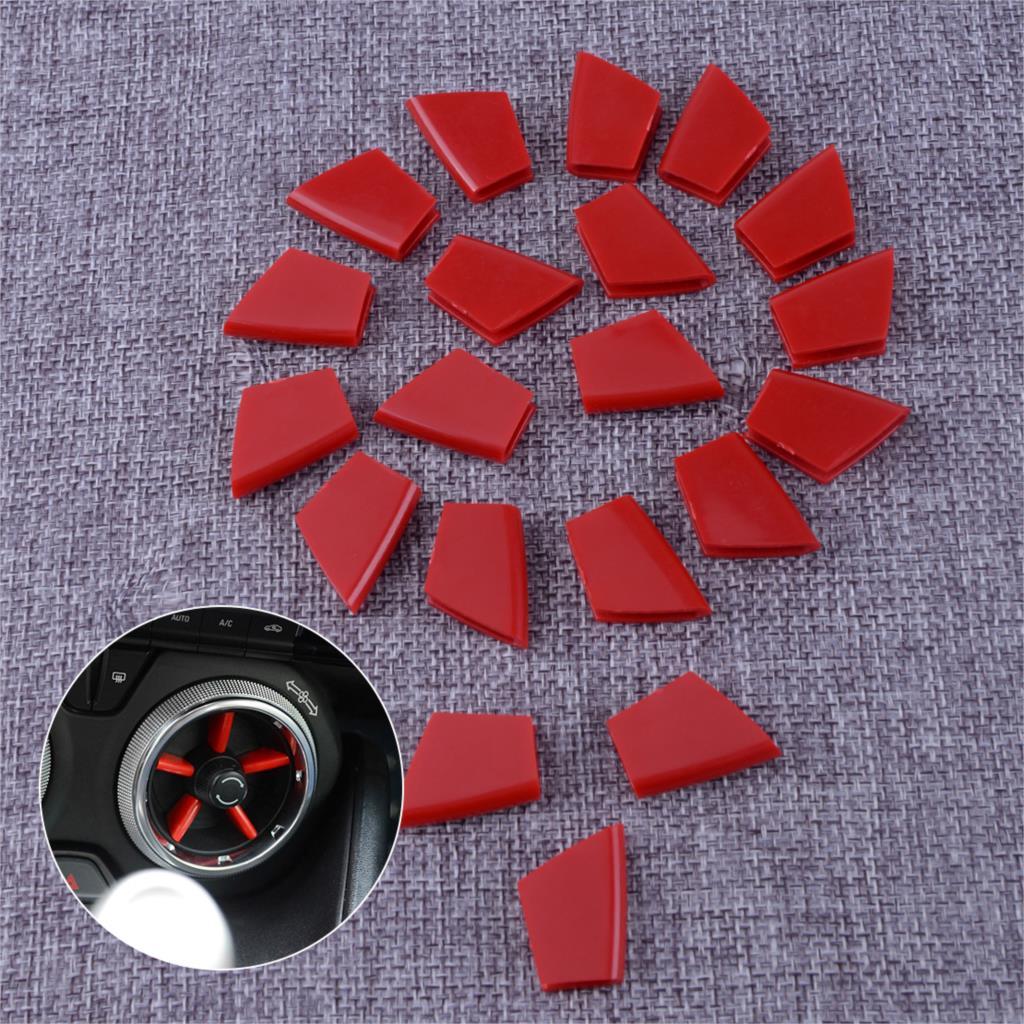 DWCX 20pcs font b Car b font Red font b Interior b font Air Conditioning Vent