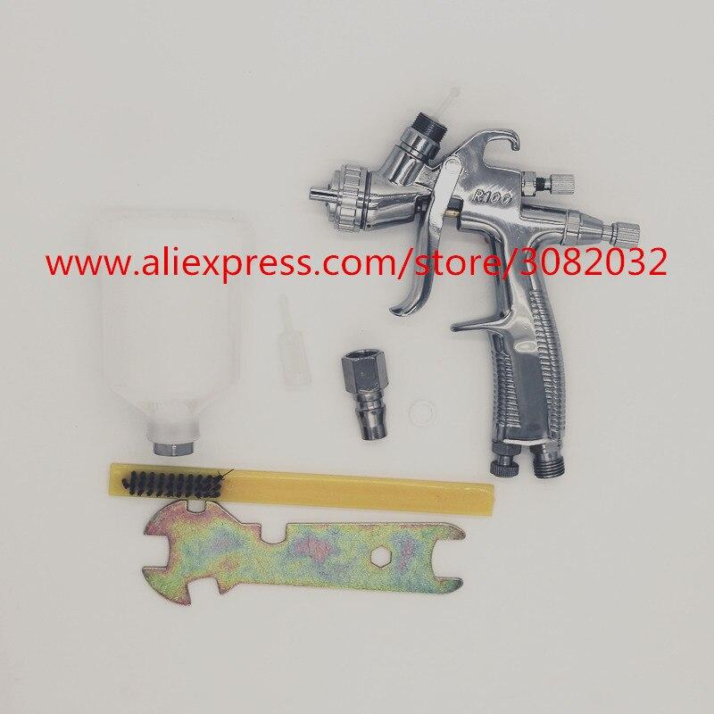 Professional LVLP Spray Gun Free shipping R100 1 0MM Nozzle Mini Air Paint Spray Guns Airbrush