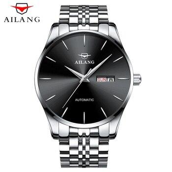 2018 AILANG механические часы Автоматическая Дата модные мужские часы Топ Бренд роскошные часы мужские Reloj Hombre Relogio Masculino