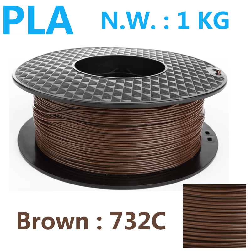 732C Brown color pla filament 1.75mm 1kg plastic filament high quality impressora 3d printer filament 1kg prusa pla 3 filament [sintron] 3d printer full frame mechanical kit for reprap prusa i3 diy acrylic frame plastic parts lm8uu bearings