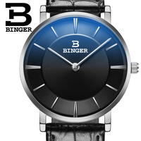 2016 BINGER Fashion Casual Mens Watches Top Brand Luxury Leather Business Quartz-Watch Men Wristwatch Relogio Masculino