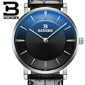 BINGER модные повседневные мужские часы  лучший бренд  роскошные кожаные деловые кварцевые часы  мужские наручные часы  мужские часы