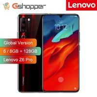 Global Version Lenovo Z6 Pro 6GB / 8GB + 128GB Snapdragon 855 Mobile Phone 4000mAh 48MP Triple Rear Cameras 4K Video Smartphone Lenovo Phones
