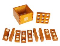 Difficulty Level 3D Wooden Game Traditional IQ Brain Teaser Puzzle Toys for Adults Children