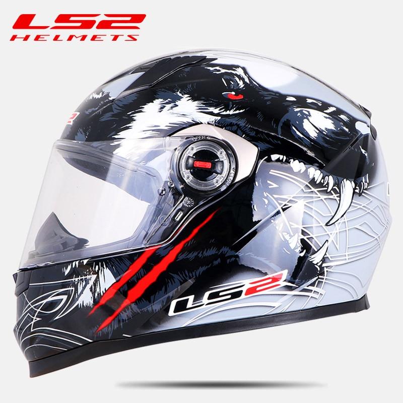 Oryginalny LS2 FF358 całą twarz kask motocyklowy Alex barros wysokiej jakości motocross kaski wyścigowe ECE zatwierdzony bez pompy