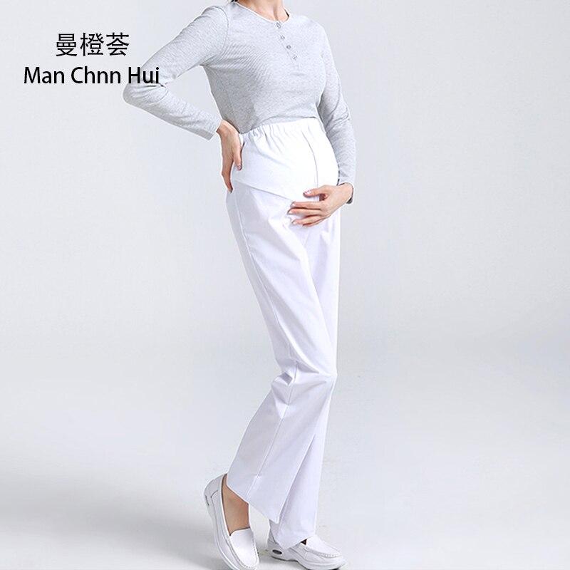 Hospital large size nurse pants medical pink white