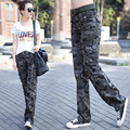 Newest Fashion Camouflage Pants Full Pants Women Casual Jogger Cargo Pants Woman Trousers Free Shipping