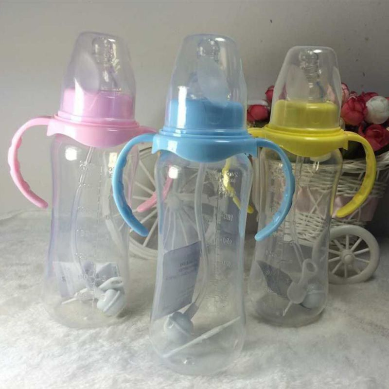 240ml baby bottle Straw Juice Water Bottles Training Cup Infant Newborn Children Learn Feeding Drinking Handle Bottle