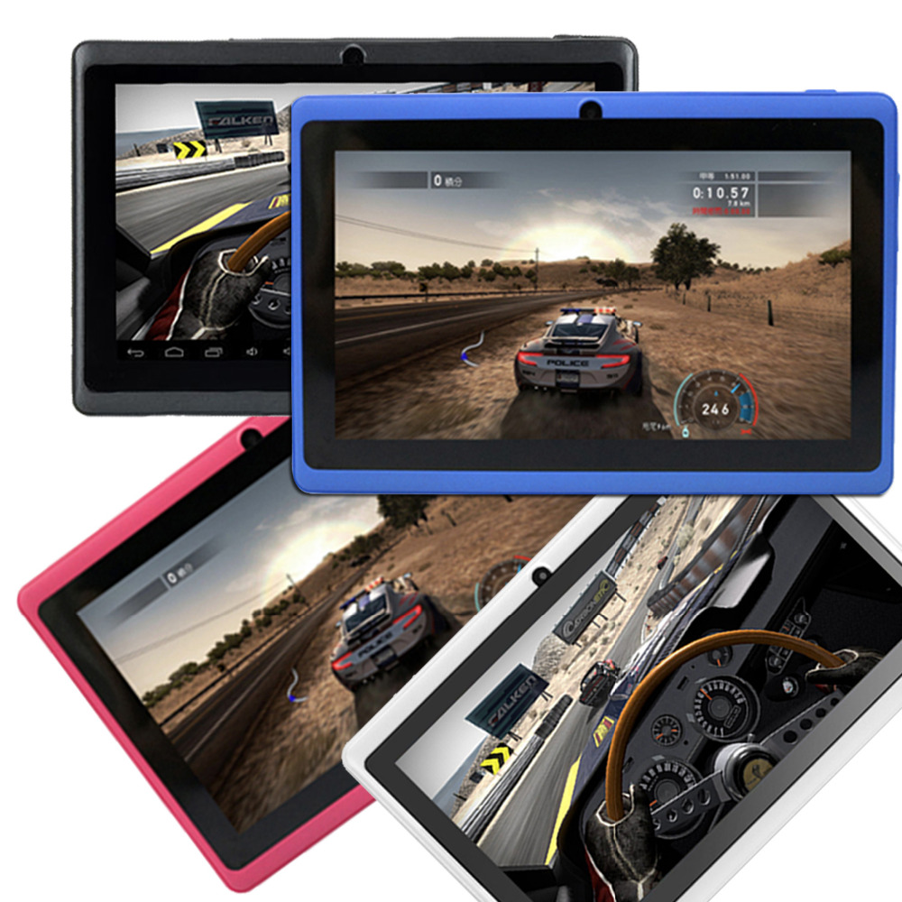 ROM 8GB Free Shipping Quad CoreTablet PC A33 Q88 7 inch Cap acitive Screen Android 4