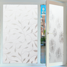 Sun flower frosted static window film glass stickers toilet opaque translucent foil Decorative sticker