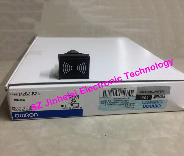 100% New and original OMRON BUZZER M2BJ-B24 new and original e3x da11 s omron optical fiber amplifier photoelectric switch 12 24vdc