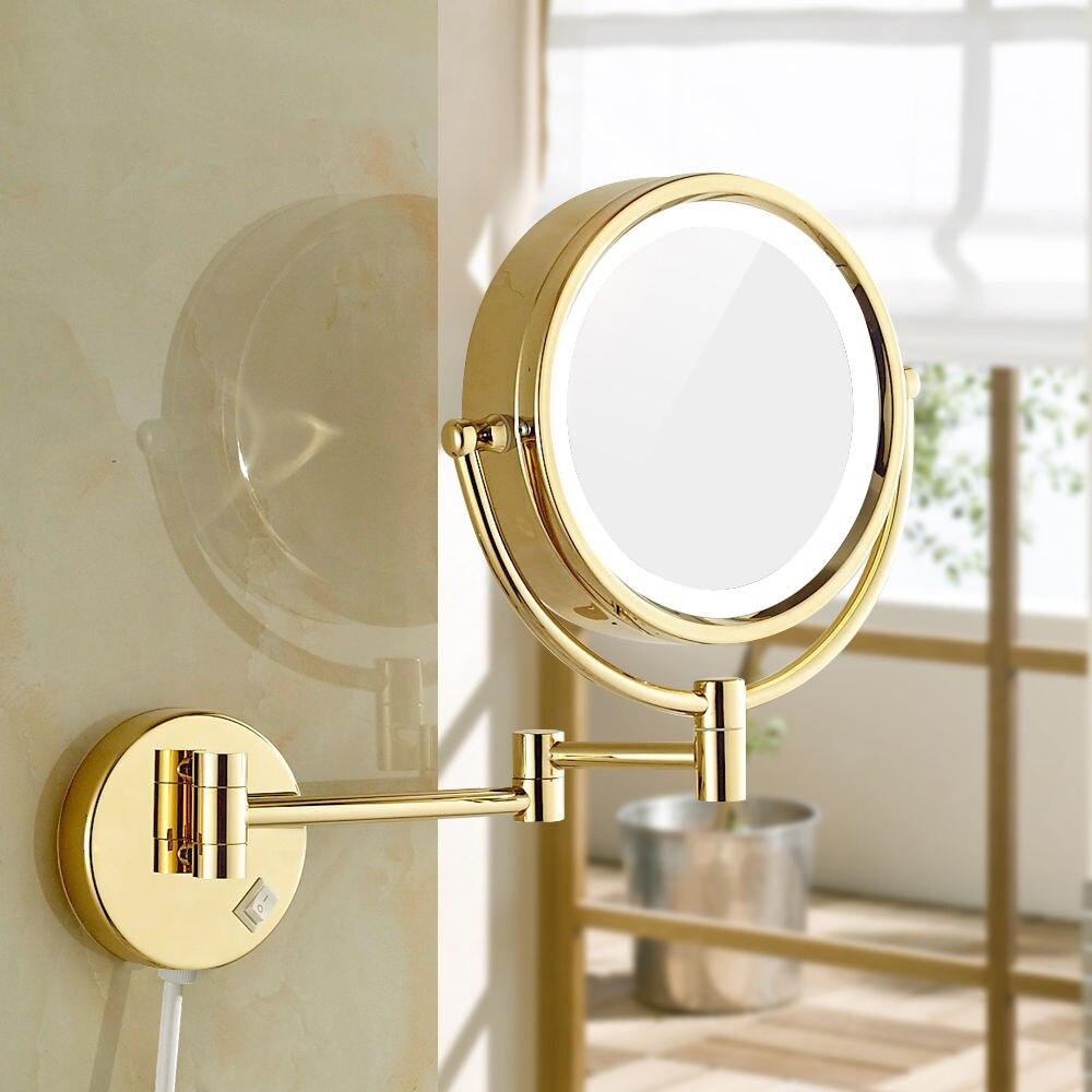 GURUN brijanje šminka zrcala s LED svjetla i 10x / 1X povećanje - Alat za njegu kože - Foto 3