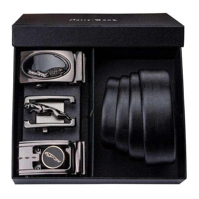9b65c48bb77 PT 0006 Barry. wang Automatique Boucle Véritable Cuir de luxe Ceintures  Pour Hommes 110 cm 150 Long Alliage cadeau Boîte Ensembles