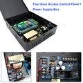 TCP/IP Network Access Control Совета Контроллер Панели Для 4 Двери DC 12 В/3A Выход Питания Металлический Ящик для Мульти-Двери