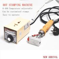 Personalized Custom Stamping Machine Leather Cake Branding Machine Wood Marking Embossing Machine 220V 0 440degree Adjustable