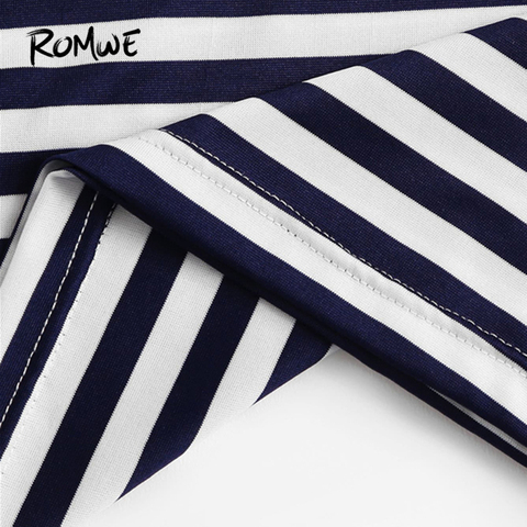 ROMWE Multicolor Contrast Pocket Striped Ringer Women Tees 2019 Summer Preppy Style T Shirts Casual Short Sleeve O-Neck Tops Islamabad