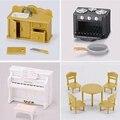 4 pçs/lote diferentes brincar de casinha brinquedos Sylvanian Piano pia WJ179
