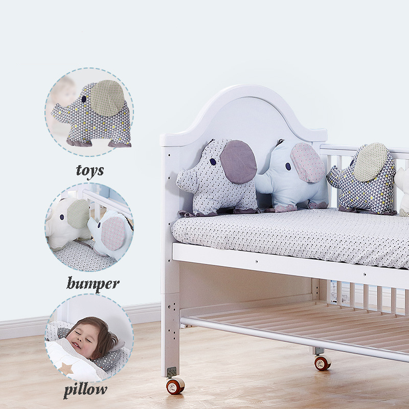 Bébé protection pour lit Coussin Coton Éléphant de Bande Dessinée berceau pour bébé Pare-chocs Doux Bébé parure de lit Autour Protecteur Salle Décoration
