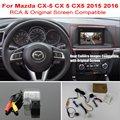 Para el Mazda CX-5 CX 5 2015 CX5 2016 2017 RCA y Pantalla Original Compatible/Cámara de Visión Trasera/HD Copia de seguridad de Reversa Cámara Fija