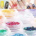 Candy Lover 3D Glitter Nail Art Sparkly Sequins Mix Designs Acrylic UV Gel Nail Decoration DIY Manicure Nail Accessories Tool