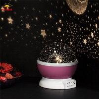Oobest Creatieve Roterende LED Lamp Sterrenhemel Projector Nachtlampje Kleur Veranderende Star Moon Sky Cosmos Sfeer Lamp Voor Baby