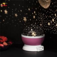Oobest Creativo Rotante Lampadina LED Cielo Stellato Proiettore Luce di Notte Cambia Colore Star Moon Cielo Cosmo Lampada Atmosfera Per Il Bambino