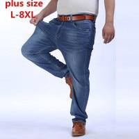 2017 New Plus Size 8XL 7XL 6XL 5XL Men Slim Casual Pants Elastic Men S Jeans