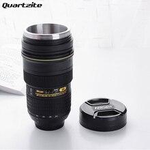 カメラレンズマグ350 400ミリリットル茶ステンレス鋼断熱タンブラー(モデリングニコンafニッコール24〜70ミリメートルf/2.8グラムed)コーヒーマグ