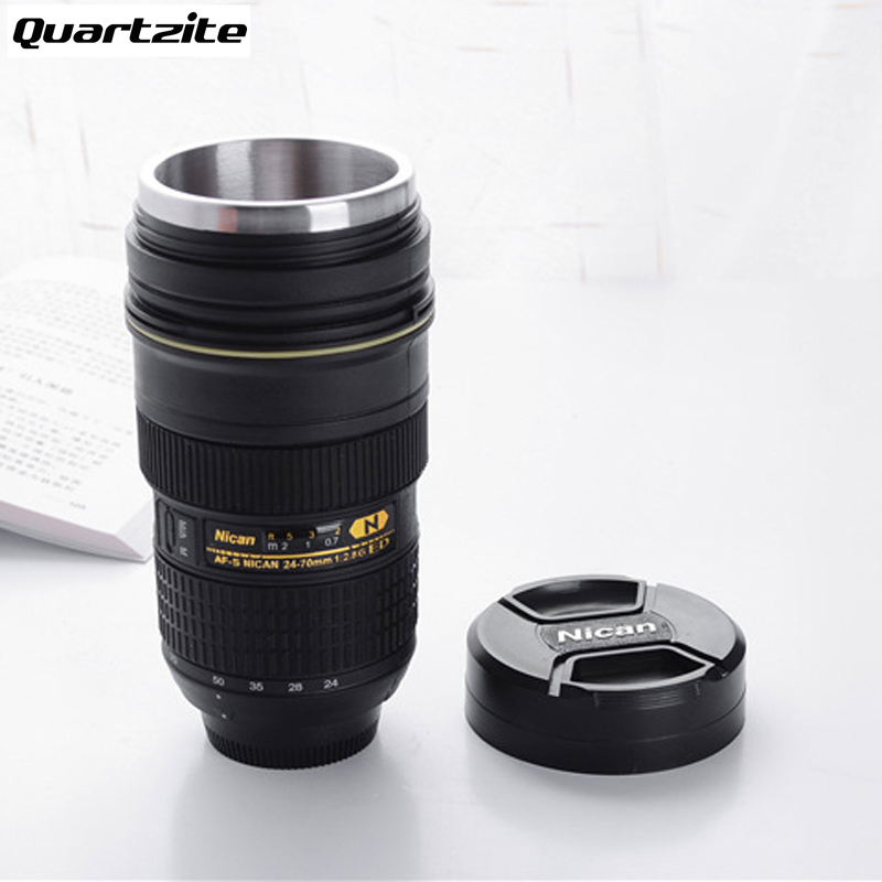 Camera Lens Mug 350 400ml Tea Stainless Steel Insulated: nikon camera lens coffee mug