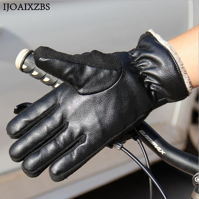 все цены на  Motorcycle Leather Bike Gloves  Leather Touch Screen Men Women Moto Glove Electric Bike Luvas da motocicleta Os carros eletricos  в интернете