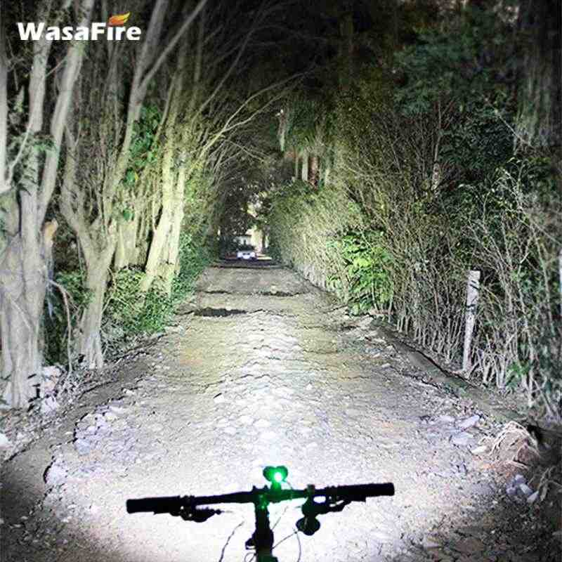 WasaFire 40000lm vélo lumière 16 * XML-T6 lampe de bicyclette à LED avant lumière phare cyclisme accessoires + 9600mAh batterie + bandeau