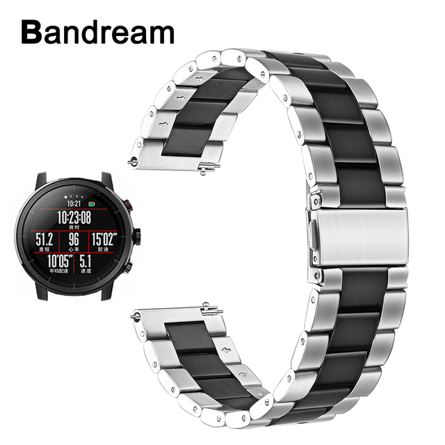 22mm Stainless Steel Watchband Quick Release for Xiaomi Huami Amazfit Pace / Str