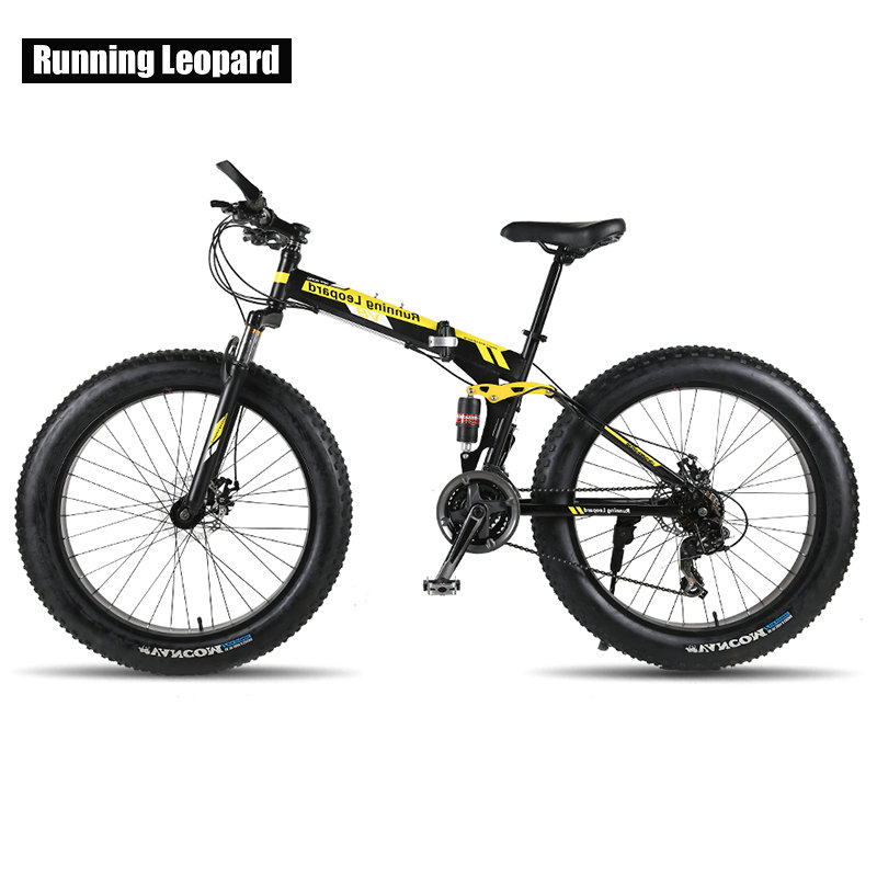 26 inch 24 speed mountain bike folding bicycle beach snow fat bike front and rear shock absorber bicycles Off-road bmx 26 inch 24 speed mountain bike folding bicycle beach snow fat bike front and rear shock absorber bicycles Off-road bmx