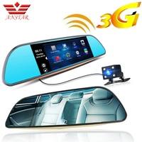 ANSTAR 3G FHD Dash Cam Car DVR Camera GPS Video Recorder Android 5.0 Bluetooth FM WIFI Dual Lens Rearview Mirror Camcorder Dvrs