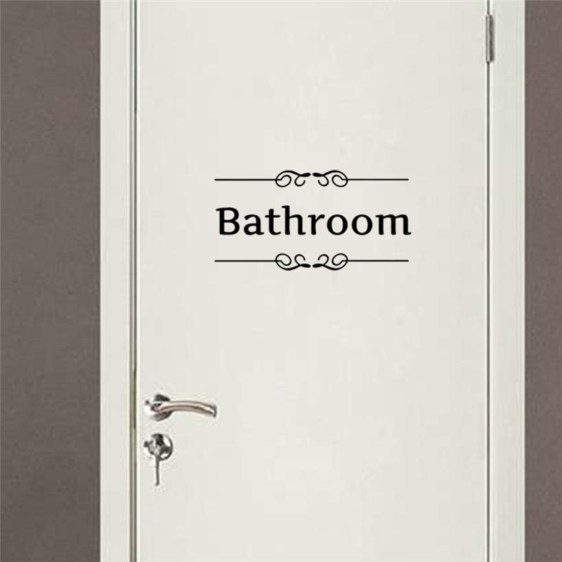 HTB1SIj5OpXXXXbwXpXXq6xXFXXXD - bathroom rules door sign vinyl quotes lettering words wall sticker For bathroom-Free Shipping
